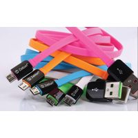 bright long soft zetton  Micro USB Flat Cable for ipone 5/5s/6//6s/ipad