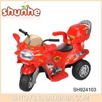 Hot selling children ride on motor b/o ride on police car for wholesale