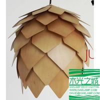 latest pine cone wood pendant lamp