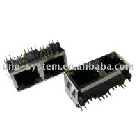 1X2 RJ45 socket(connector) without transformer thumbnail image