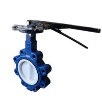 PTFE lined wafer /lug butterfly valve