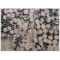 Hot sale snake printed laminated fabric used for shoes and bags
