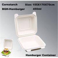 Eco-friendly Cornstarch Biodegradable Disposable Hamburger Box
