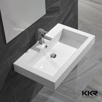 bathroom rectangle wall hung small size wash basin