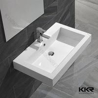 bathroom rectangle wall hung small size wash basin