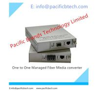 One to One Managed GE Fiber Media Converter