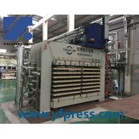 Multilayer type thermal melamine press machine/melamine laminating line