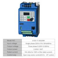 VFD 2.2KW new inverter CNC Spindle motor speed control 2.2KW220v 1P input 3P OUT fre thumbnail image