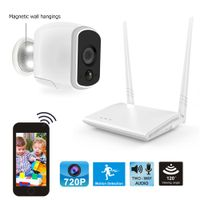 Powered by Battery Wireless HD720P Smart Security Home Surveillance System IP65 Waterproof Indoor Ou