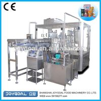 Automatic spouted liquid soybean milk pouch filling and caping packing machine/stand up pouch fillin thumbnail image