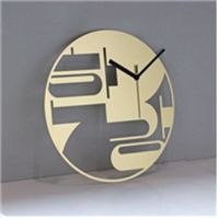 A Stainless Interior Clock (model name :Love Korea Spot-Hangang)