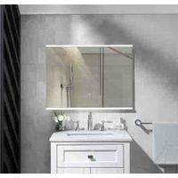 CE IP44 SAA listed Aluminum Framed Fog Resistant hotel Bathroom Luxury Makeup Mirror thumbnail image