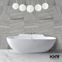 kingkonree solid surface 1440 freestanding bath