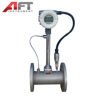 Temperature and pressure compensation Integrated Vortex Flowmeter