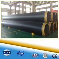direct bury polyurethane foam cladding pre insulation pipe