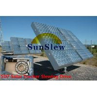 single and dual axis PV CPV CSP solar tracker slewing drive