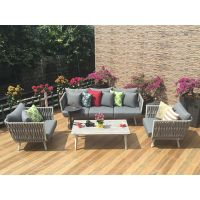 Outdoor furniture garden sofa rope weaving sofa set
