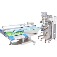 Cookies machine with conveyor