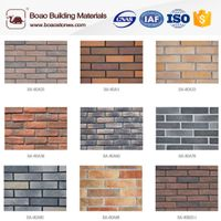 decorative multicolor thin artificial faux brick panel veneer wall siding
