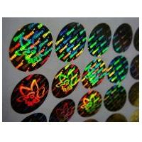 Silver 3D hologram uv protection sticker