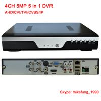 H.265 4 Channel 5MP Hybrid DVR Recorder Support AHD CVI TVI Analog IP Security Cameras 5 in 1