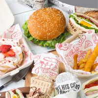 Parchment Wrapping Paper For Sandwich Burger Wrap Wax Paper Food Greaseproof