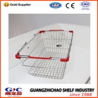 supermarket shopping steel wire basket