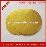 10'' Round Gold Masonite Decorative Cake Boards thumbnail image