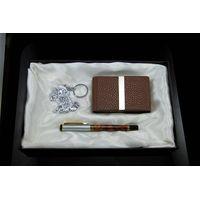 Crad Holder Key Chain Pen Gift Set Business Gift