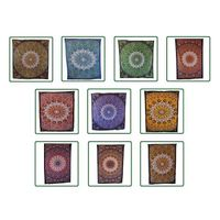 Handicrunch | Indian Star Printed Mandala Tapestry