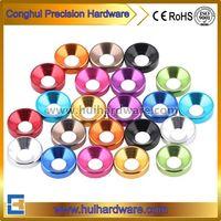 CNC Machining Aluminum Countersunk Washers, Anodized Aluminum Washers