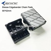 80x62mm Edgebander Track Pads Conveyor Chain Pads for BIESSE Edgebanding Machine