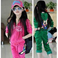 Girls children spring autumn outfit new velvet cardigan long sleeve tracksuit Children's Hoodies & S thumbnail image
