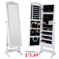 Lifewit Mirrored Lockable Bedroom Armoire