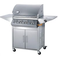 STAINLESS STEEL 4 BURNER GAS GRILLS