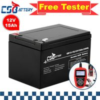 Csbattery 12V15ah Rechargeable AGM Battery for RV/Marine/UPS/Solar/Security/Fire/Golf-Car