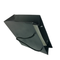 Custom luxury packaging matt black paper bag with twisted rope biodegradable thumbnail image