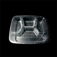 PP multi-grid disposable plastic transparent fastfood boxes plastic mould