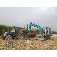 Sugarcane harvester grab loader wheel excavator