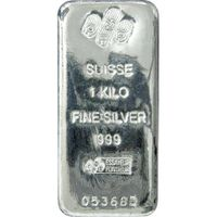 Silver Bars / 1 kg PAMP Suisse Silver Cast Bar