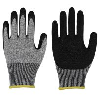 13 Gauge Polyester Sandy Latex Coated Gloves