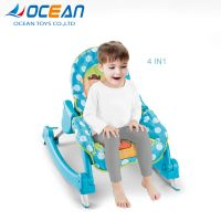 4 in 1 plastic music electric rocker baby rocking chair with light thumbnail image