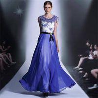 royal blue long 2014 Evening dresses zuhair murad evening gowns 30889