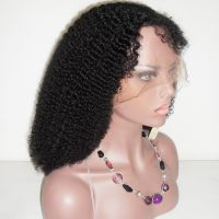 8-30 inches Afro Curl human Hair Lace Wigs