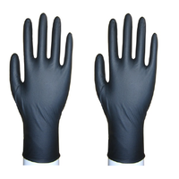 #7235 Black Non-Sterile Examination Nitrile Gloves