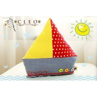 Cute Boat Plushie Pillow thumbnail image