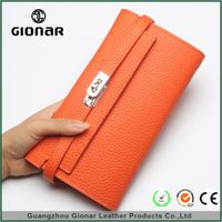 2015 Trendy Cellphone Multi-function 3 Way Wrist Strap Crossbody Bag Handmade Leather Wallet