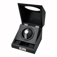 High-end Black rubber paint rotating wooden watch box/watch storage box / watch display box