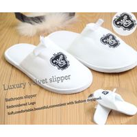 cotton velour disposable slipper eva sole Hot sale