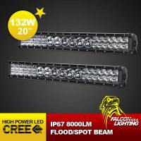 """New 23"""" 132W Car Tractor 4X4 Truck Offroad CREE LED Light Bar Combo Beam"""